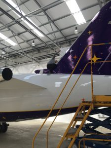 Cadburys Plane Wrap - Tail View